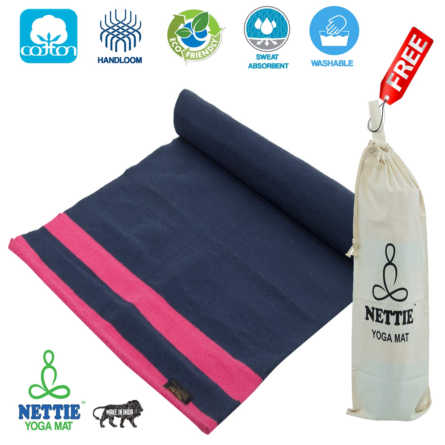 Eco Friendly Cotton Yoga Mats Buy Now And Get Special